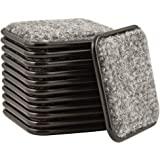 SoftTouch 4292095N 2-1/2 polegadas, pacote com 12 copos quadrados para proteger pisos de madeira, pacote econômico, marrom/ci