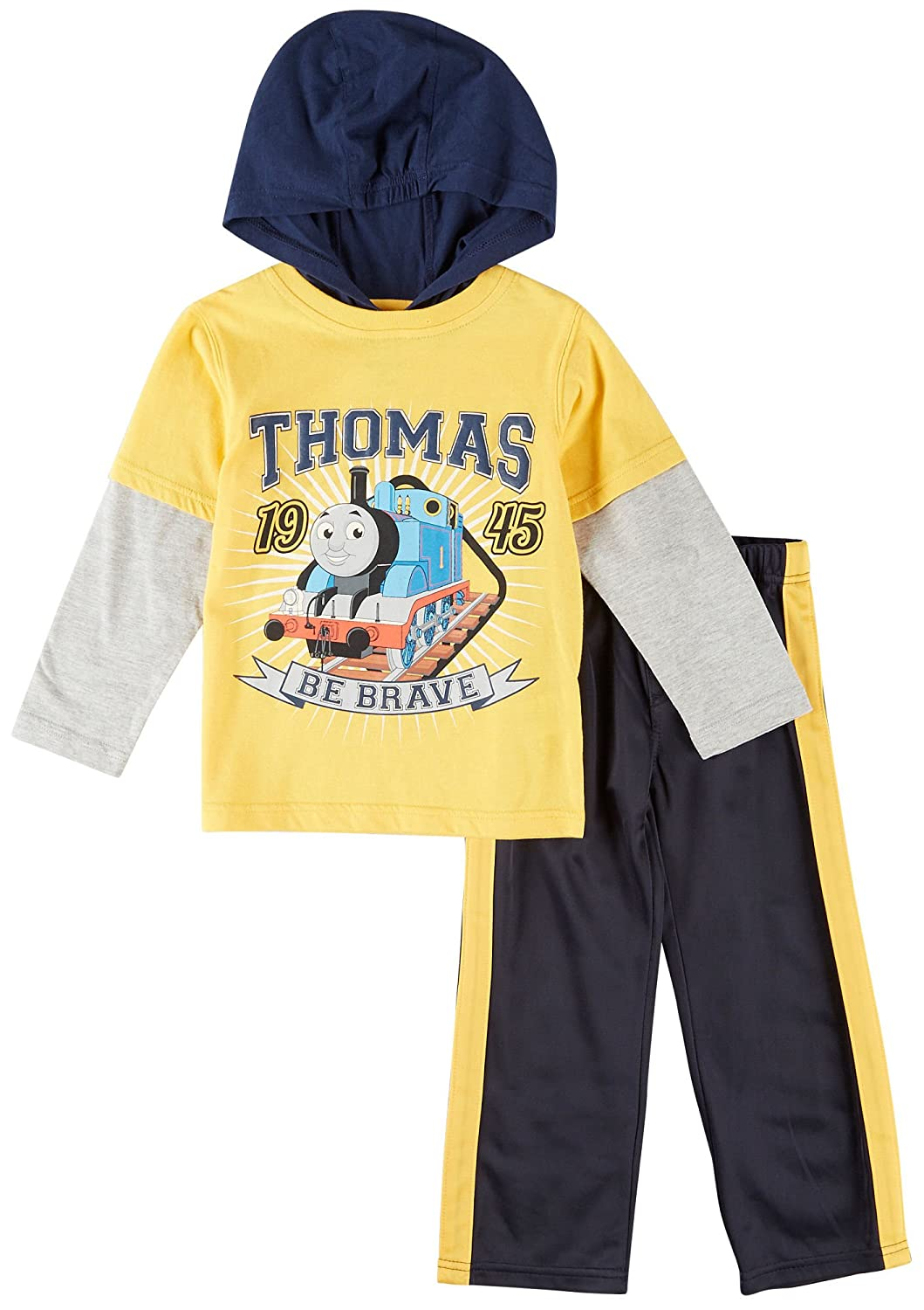 cheap Thomas The Train Little Boys' Toddler Boys 2 Piece Set Yellow and Navy on sale