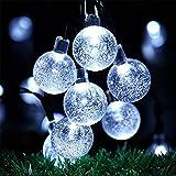 OxyLED Solar String Lights, 30 LED Garden Patio Outside Solar String Light,Waterproof Indoor/Outdoor String Lights, Great Garden Terrace Patio Outside Xmas lights(White Light)