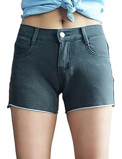 3910f222be Love Lola Womens Denim Shorts Ladies High Waisted Light Denim Jeans ...