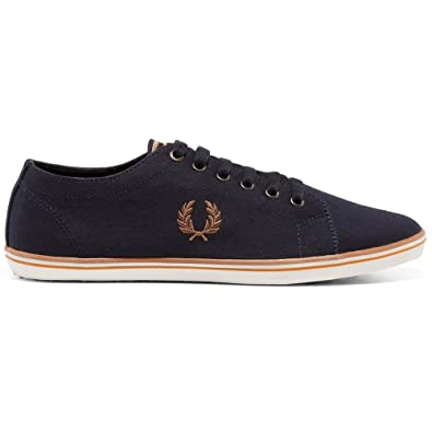 Fred Perry Kingston B6259U Canvas Marine Et Blanc. Chaussures de Tennis pour Hommes (43 EU, White Canvas)