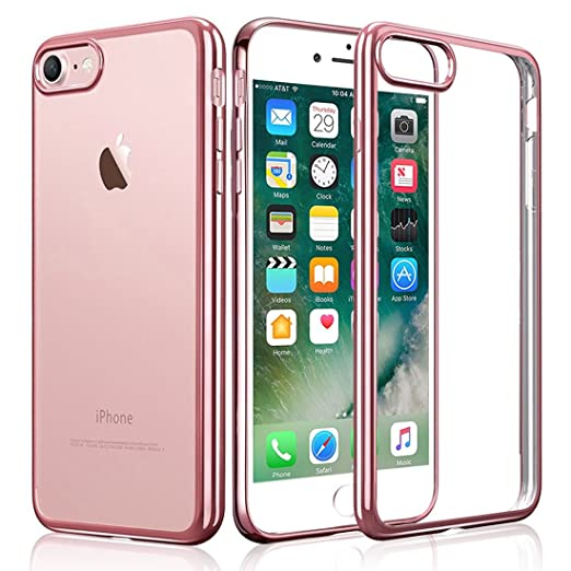 35 opinioni per iPhone 7 Custodia, KKtick iPhone 7 Case Cover Sottile Silicone Galvanica TPU,