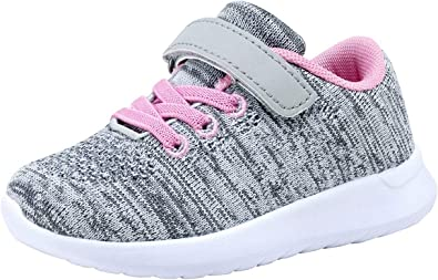 Shoes Gray Little Kid US 12.5 Running Shoes Boys Girls Breathable Lightweight Flyknit Comfort Sneakers