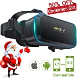 VR Headset IMESIV T04B Virtual Reality Headset 3D VR Glasses 360 Panoramic Large Viewing Immersive Experience HD 3D VR Goggles for 3D Movies Video and Games Compatible for IOS Android Smartphones