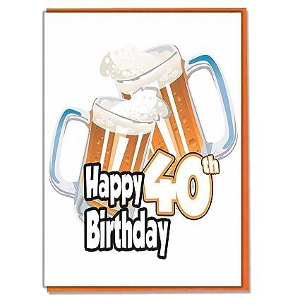 Tarjeta de 40 cumpleaños - cerveza pinta - hombre - Hijo ...