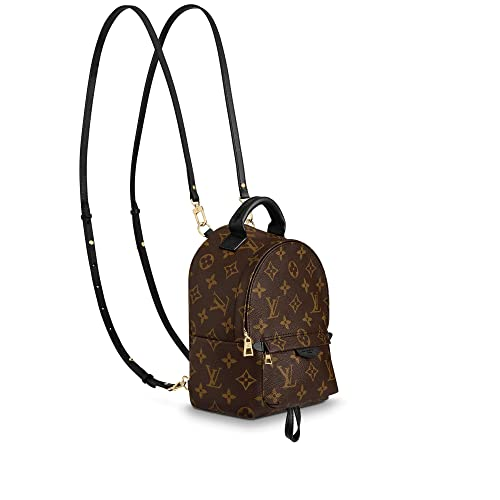 c100e0e1a397 Palm Springs Style Canvas Monogram MINI Backpack with Adjustable Straps  Perfect for Men Women Girls Boys  Amazon.ca  Shoes   Handbags