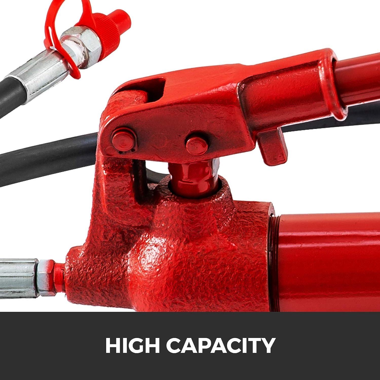 FlowerW Hydraulic 12 Ton Porta Power Hydraulic Jack Auto Car Body Repair Kit Hydraulic Frame Repair Kit with 2M Oil Tube