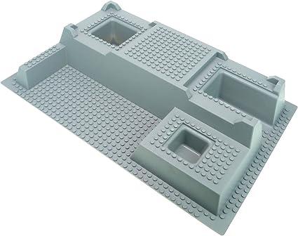 Lego--3031--Grundplatte 4 Stück--Grau//DkStone--4 x 4--Ritterburg Bauplatte