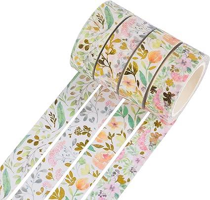 Rouleaux Masking Tape Ruban adhesif decoratif pour Bricolage Artisanat Scrapbooking 45pcs Ruban Adh/ésifs Washi Tape IWILCS Washi Tape