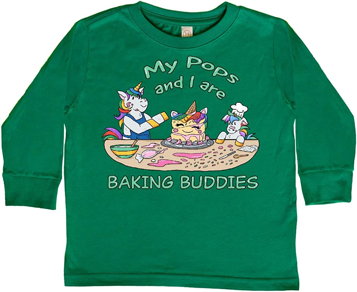 inktastic My Pops and I are Baking Buddies Toddler Long Sleeve T-Shirt