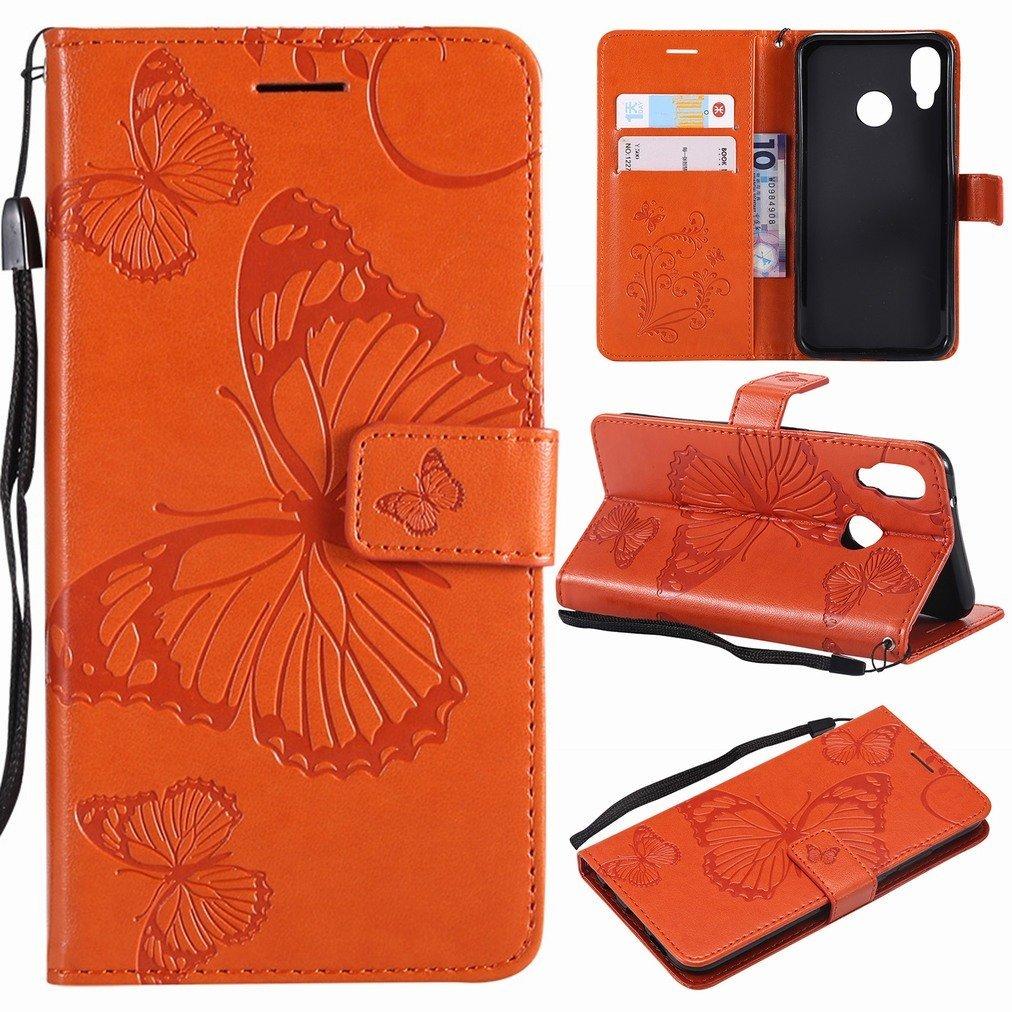 avec Slot pour Carte Vert 3D Papillons Laybomo Huawei P20 Lite Etui Housse PU Cuir Pochette Portefeuille Aimant Protecteur Slim Flip Cover Doux TPU Silicone Coque pour Huawei P20 Lite
