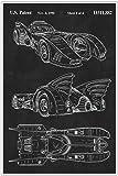 Batmobile, Car, Blueprint Patent, Patent Poster, Blueprint Poster, Art, Gift, Poster Print, Patent Poster