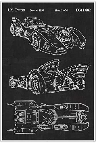 Amazon batmobile car blueprint patent patent poster batmobile car blueprint patent patent poster blueprint poster art gift malvernweather Choice Image