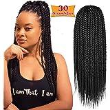 6Pcs 14inch 30stands Senegalese Twist Crochet Hair Braids Small Havana Mambo Twist Crochet Braiding Hair Low Temperature…