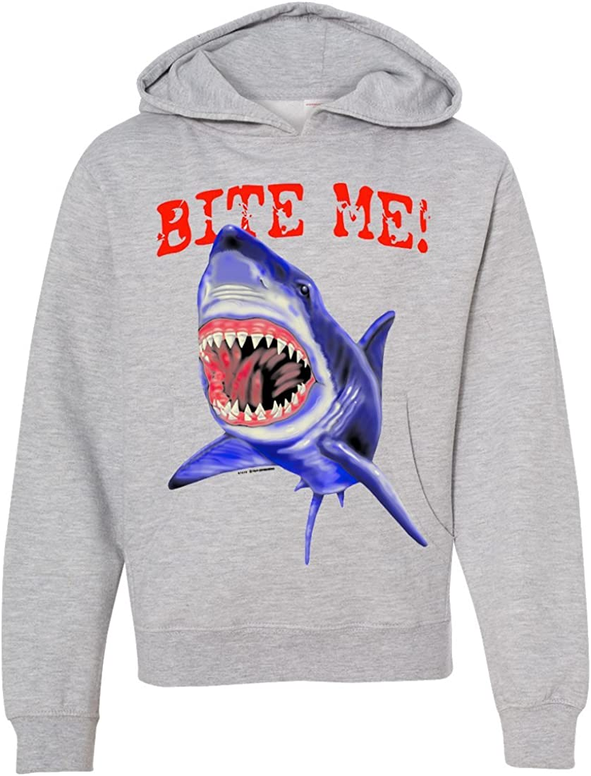 Bite Me Great White Shark Youth Sweatshirt Hoodie