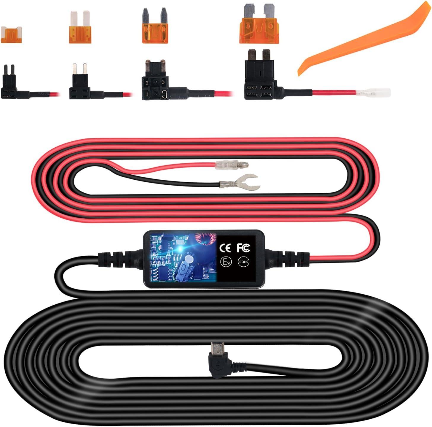 small fuse box wiring amazon com dash cam hardwire kit  mini usb hard wire kit fuse for  amazon com dash cam hardwire kit  mini