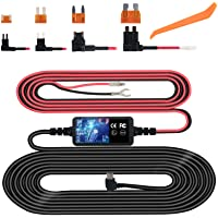 Dash Cam Hardwire Kit, Mini USB Hard Wire Kit Fuse for Dashcam, Plozoe 12V-30V to 5V Car Dash Camera Charger Power Cord, Gift 4 Fuse Tap Cable and Installation Tool(11.5ft)