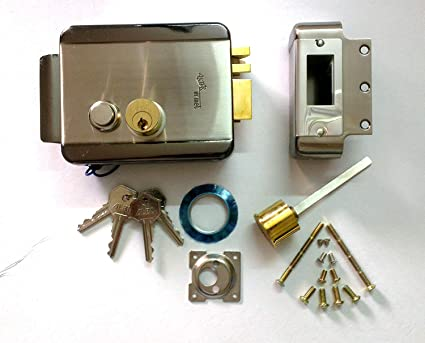 Navkar ALBA Electronic Door Lock (Silver)