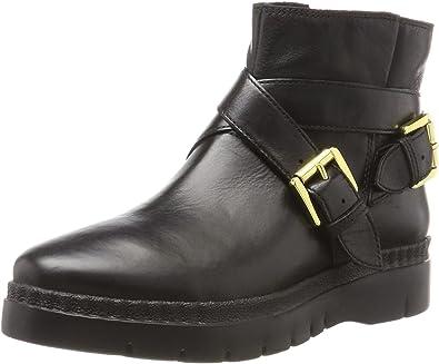 Goma de dinero abajo absorción  Geox D Emsley A, Botas Estilo Motero Mujer: Amazon.es: Zapatos y  complementos