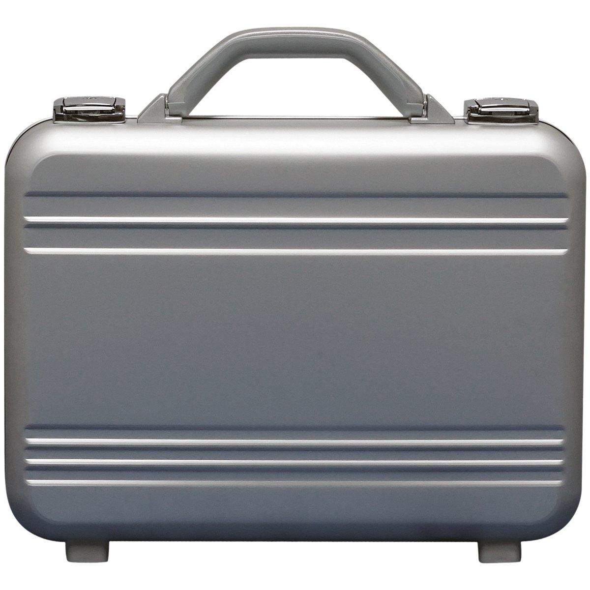 アルミ製 アタッシュケース Sサイズ A4サイズ対応 シルバー 軽量モデル ノートパソコン収納可能 ビジネスバッグ ブリーフケース PCケース パソコンバッグ B01MU0K67J