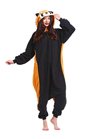 Image of: Kigurumi Animal Pajamas Onesie Adult Red Panda Cartoon Animal Cosplay Sleepsuit For Unisex Amazoncouk Clothing John Lewis Pajamas Onesie Adult Red Panda Cartoon Animal Cosplay Sleepsuit For