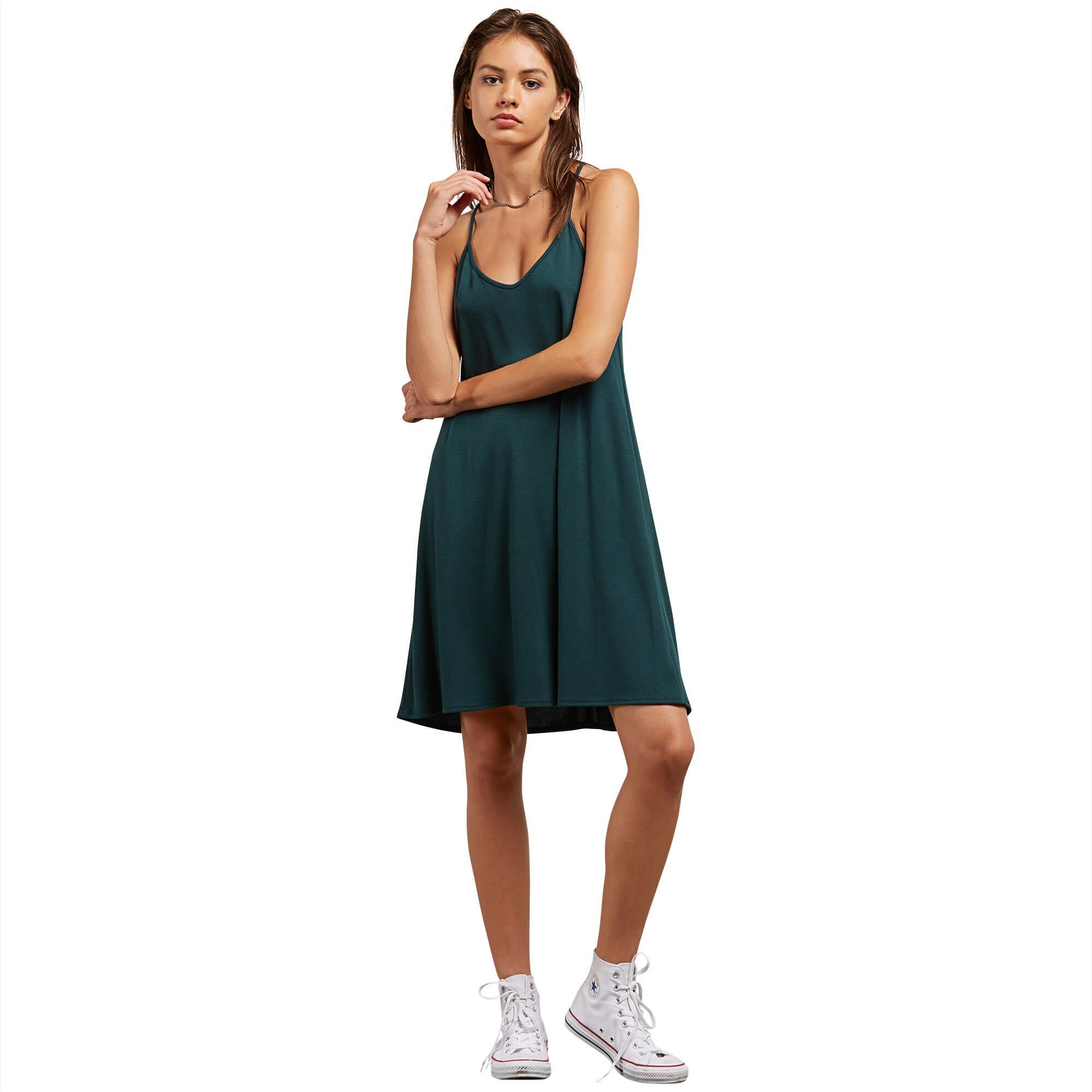 Volcom Junior's Desert Vibes Dress, Evergreen, XS