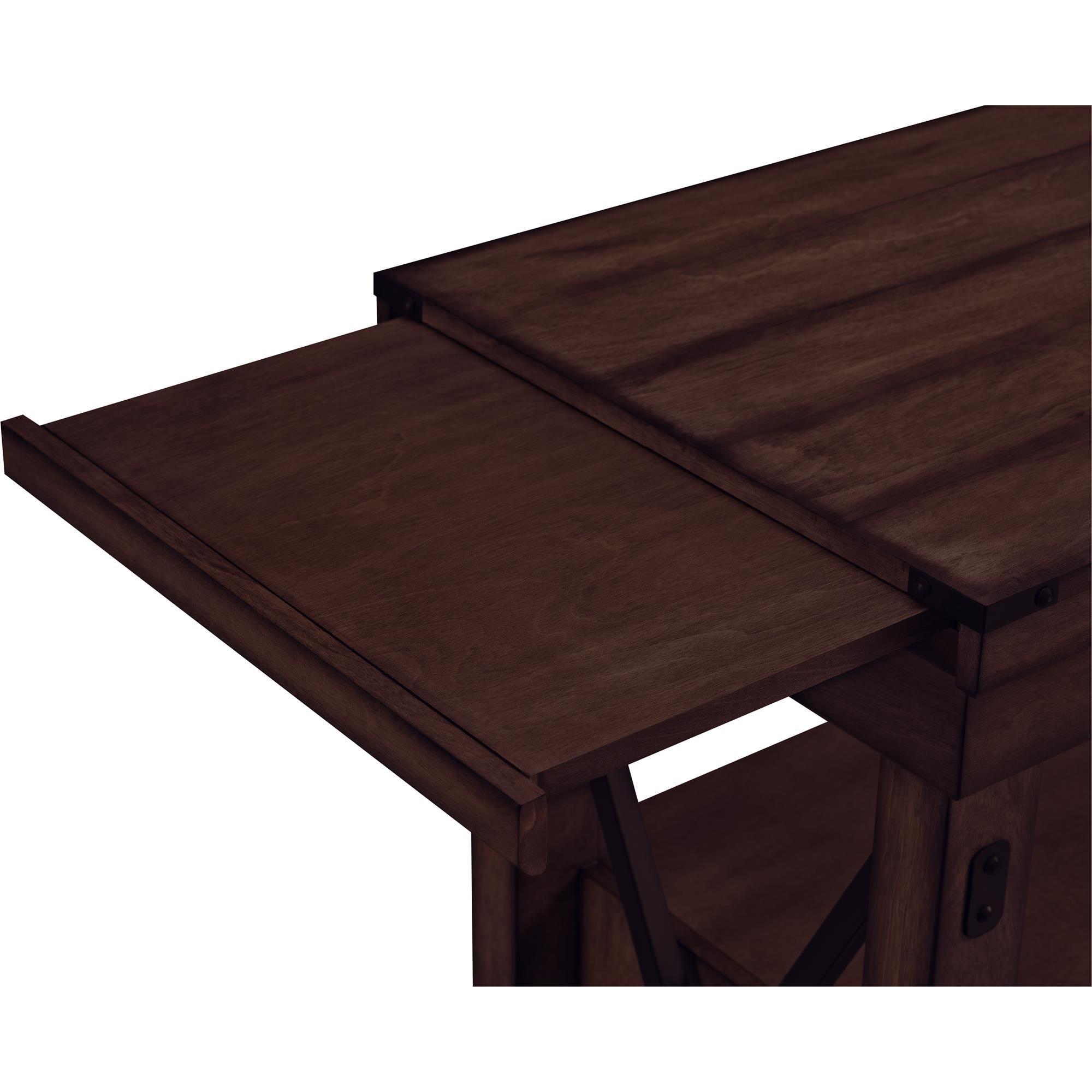 Altra Wildwood Wood Veneer Bar Cabinet, Mahogany