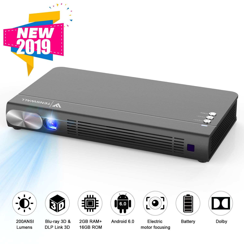 Tenswall Portátil Proyector, Mini 1080P Proyector de Video 200 ...