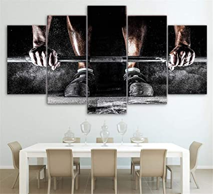 FITNESS Photo Lifting Weights CANVAS Wall Art Home D/écor