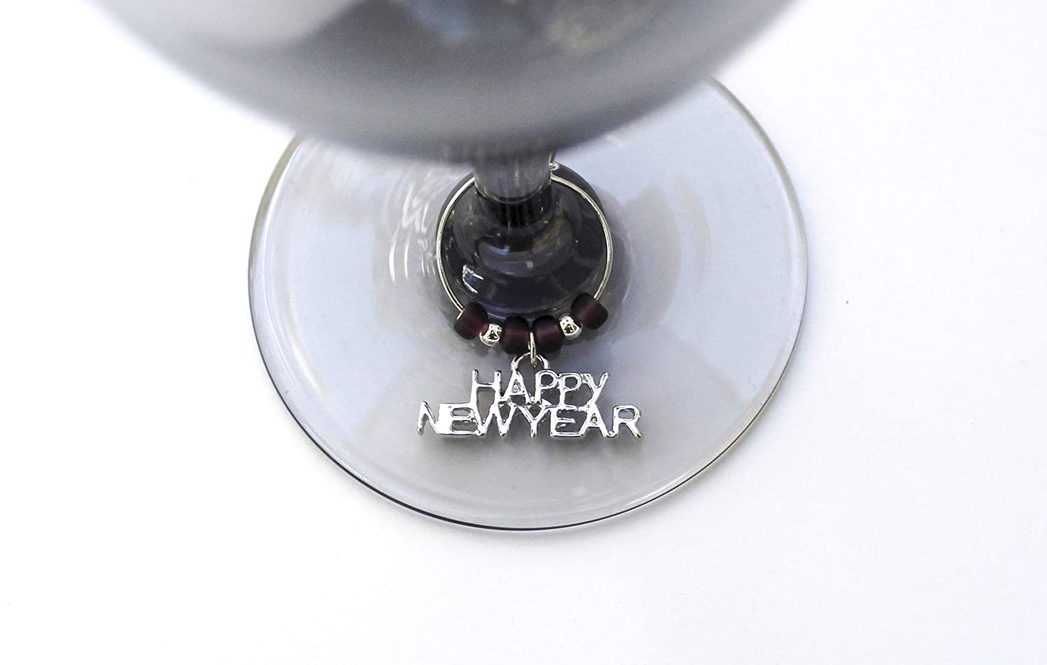New Years 2021-Party Favors-Wine Charms-Set of 8-2021NY001-8