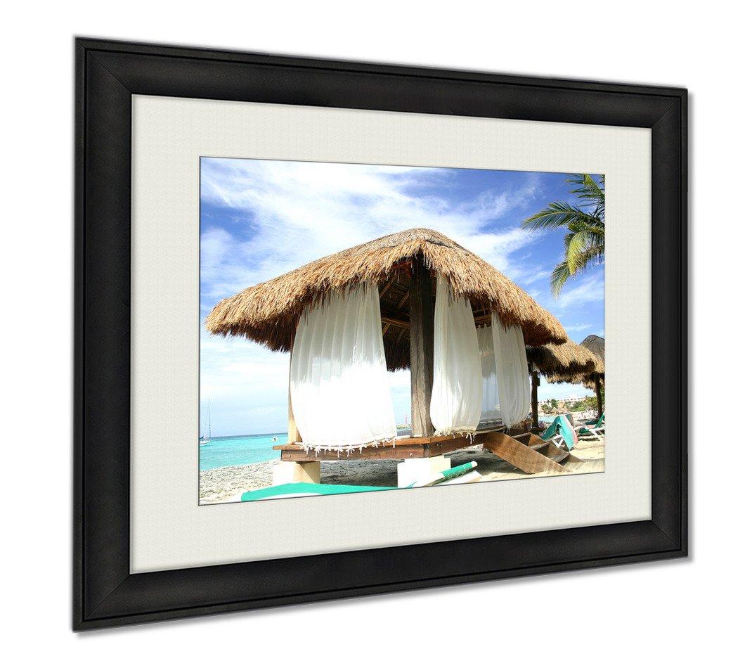 Ashley Framed Prints Beach Hut, Wall Art Home Decoration, Color, 34x40 (frame size), AG5946685