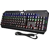 Teclado Mecánico Gaming de VicTsing, 104 Teclas y Switches Blue, 6 Colores Retroiluminado, Anti-Ghosting-Versión Español
