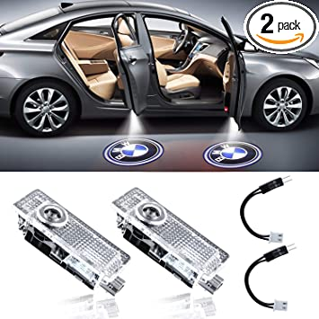 KACOOL 4 pcs Car Door Welcome Lights Courtesy LED Projector Ghost Shadow Light For BMW