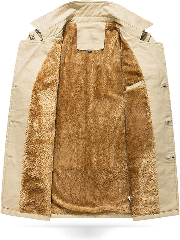 From Zero Uomo Plus Velluto Soprabito Invernale Cappotto da Uomo in Tessuto di Cotone Antivento Caldo Cappotto da Uomo Cahaki Spessi E Leggeri.