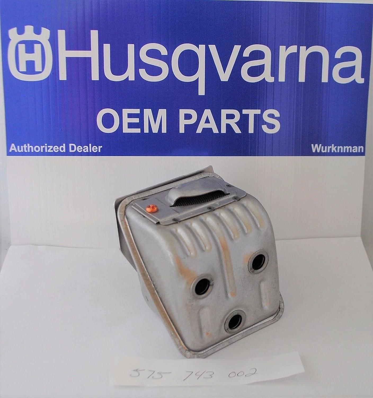 Amazon com: Genuine OEM Husqvarna 575743002 Muffler Kit for