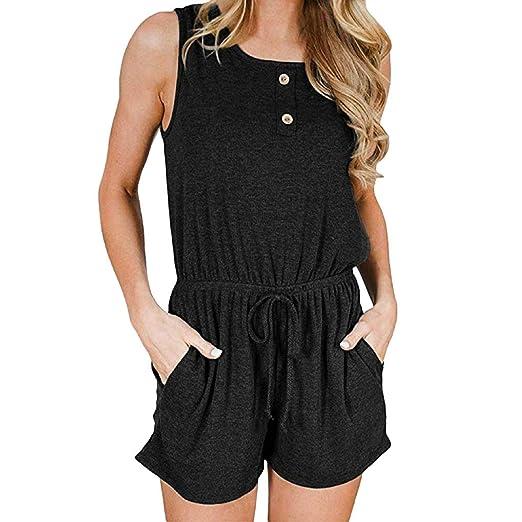 f1d6a1ff6b41 Amazon.com  Summer Women Bandage Jumpsuits