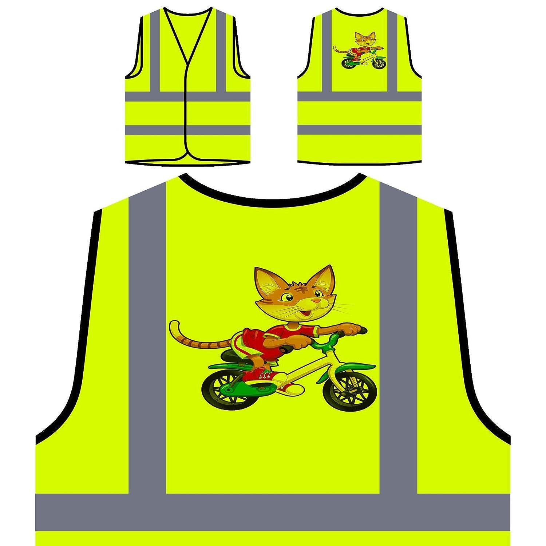 Divertida Bicicleta De Montar A Caballo Chaqueta de seguridad amarillo personalizado de alta visibilidad q633v