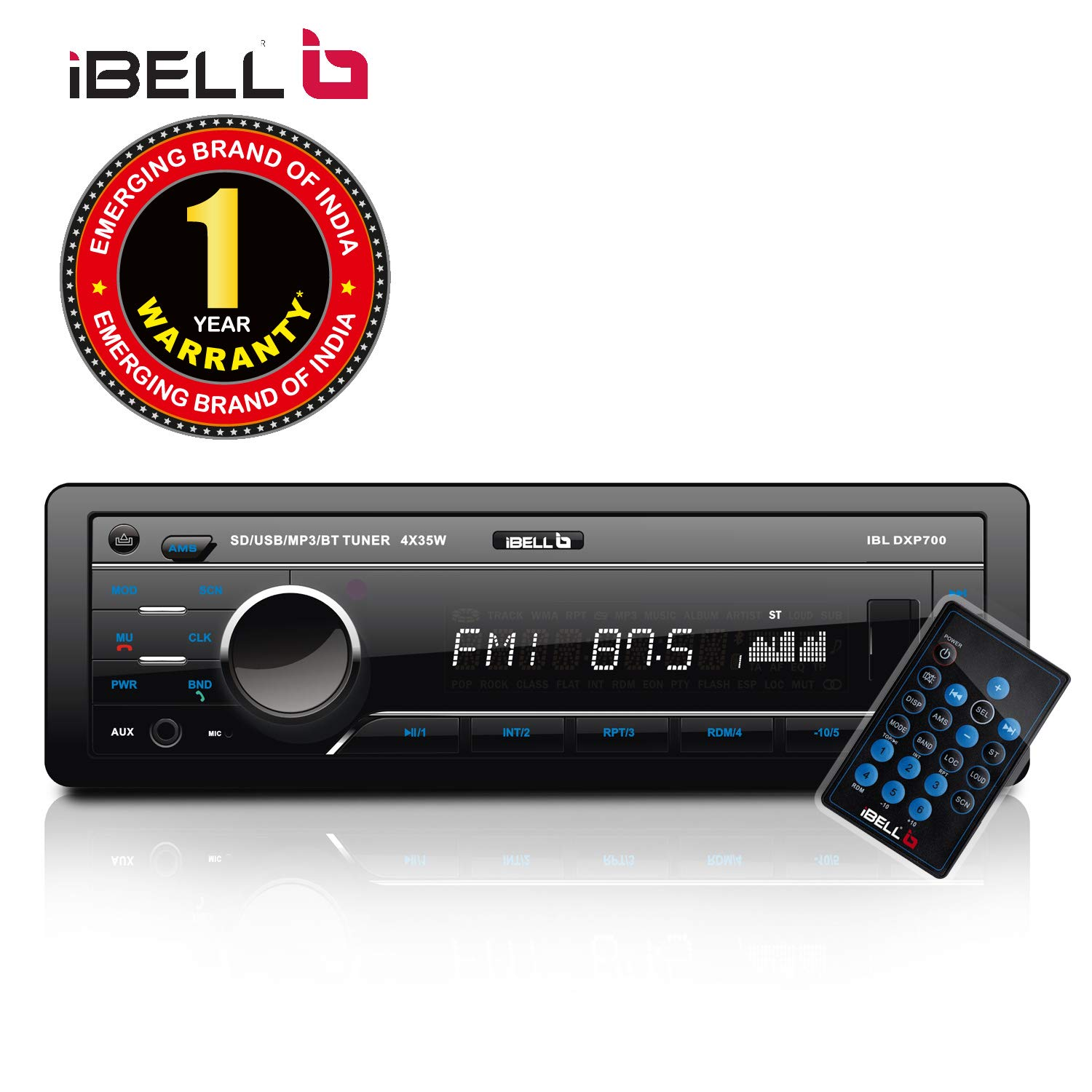 Car Audio System >> Ibell 140w Car Stereo Media Mp3 Music System Bluetooth One Touch To Receive Call With Fm Aux Usb Mmc