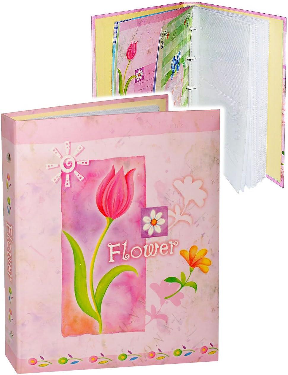 Blumen /& Bl/üten zum Einstecken .. incl beliebig erweiterbar // Ringbuch 10x15 /& 11x15 f/ür bis zu 80 Bilder bunt Name alles-meine.de GmbH Einsteckalbum // Fotoalbum