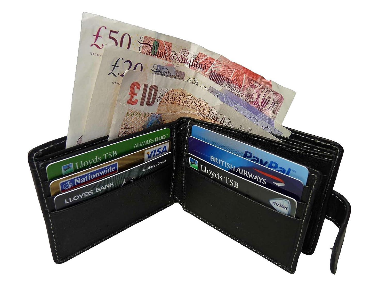 cartera/Monedero para 6 Tarjetas, cuero Premium Real - Roamlite RL507, Black No Gift Box (Negro) - RL507 Black No Gift Box: Amazon.es: Equipaje