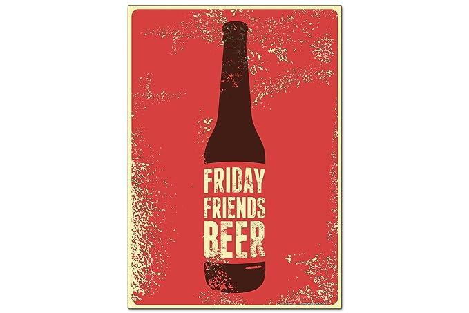 Iman Nevera Cerveza Retro Amigos de viernes Diversión Sala De ...