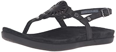 9345a3fafae UGG Women's Ayden Flat Sandal, Black, 8 B US: Amazon.co.uk: Shoes & Bags
