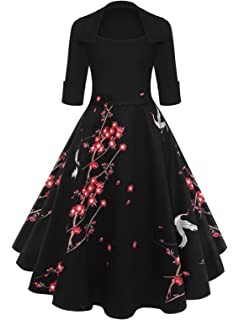 07efadaa95e DressLily Sleeveless Butterfly Print Tie A-line Women Dress