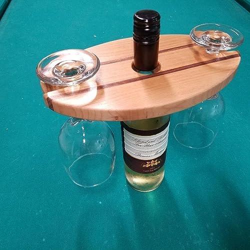 Amazon Com Wine Caddy Picnic Server Kitchen Decor Durable Wood