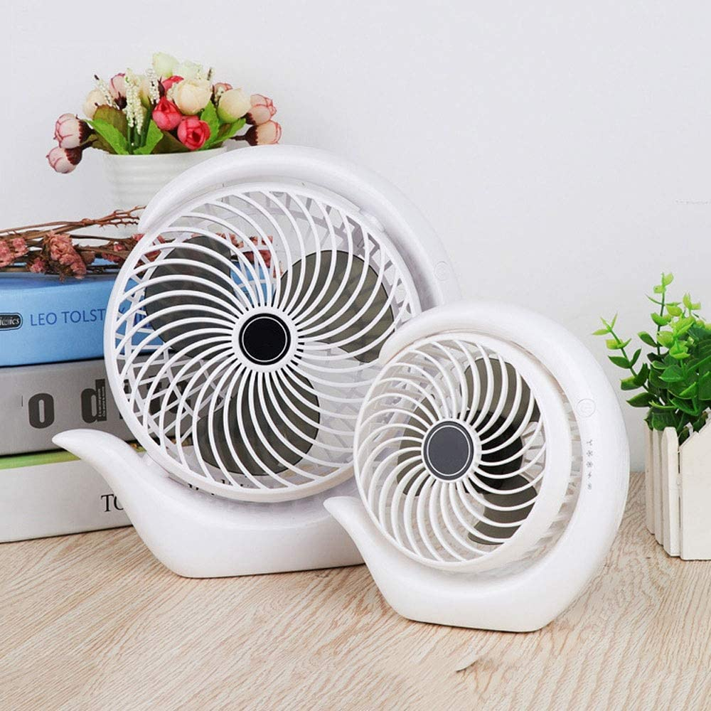 GQQG USB Fans Portable for Desk Personal Fan Battery Operated 180/° Rotating 3-Speed Table Fans for Home Quiet for Bedroom Office Outdoor Reading Size : 6 inches 1pcs