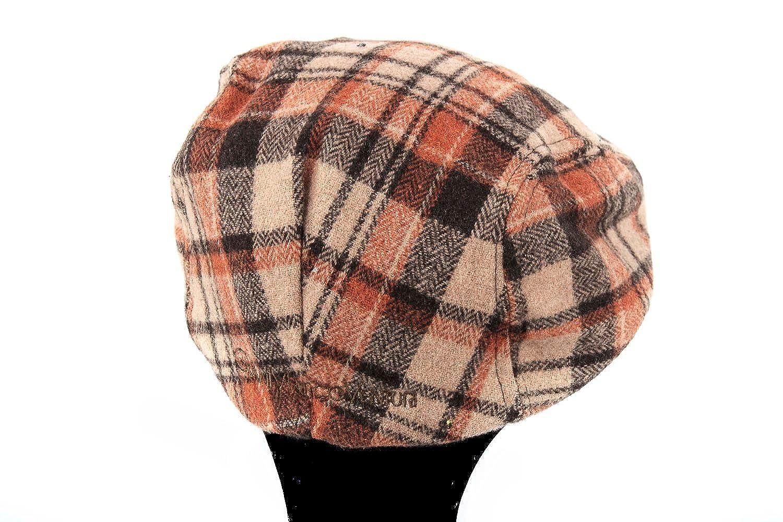 GIANMARCO VENTURI Cappello uomo coppola scozzese con visiera taglia unica  L1515  Amazon.it  Scarpe e borse a0bdcae8997a