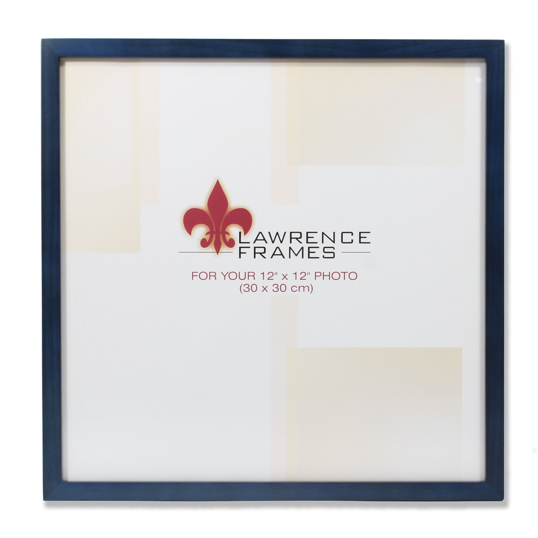 Lawrence Frames 755712 Blue Wood Picture Frame, 12 by 12-Inch