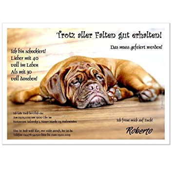 Ausgefallene Einladungskarte Zum Geburtstag Fauler Hund Auf Fussboden