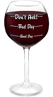 BigMouth Inc.Classy Smart Assy Novelty Wine Glass Pink Stemmed Fun Wine Glass Wine Lover Gift Sassy Holds 12 Oz