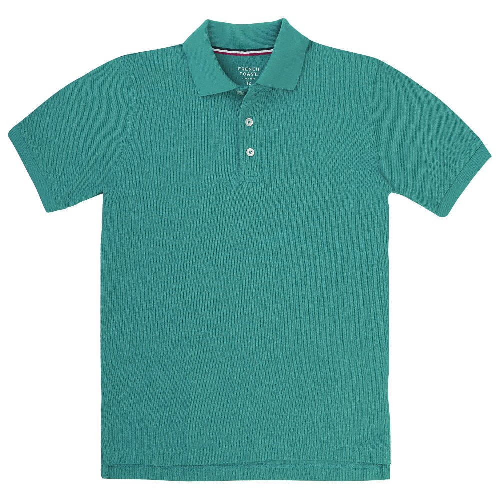 French Toast Little Boys' Short Sleeve Pique Polo, Teal, X-Small/4/5